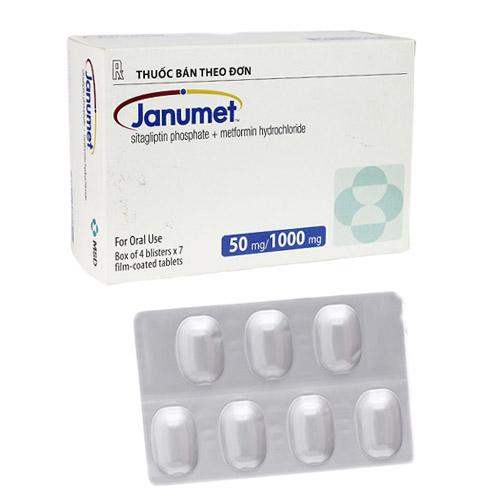 Thuốc trị tiểu đường Janumet 50mg/1000mg