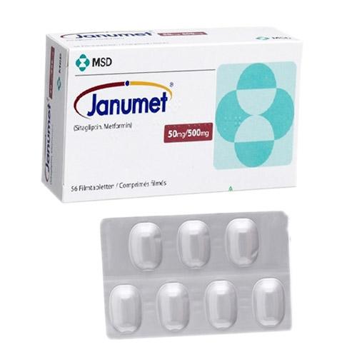 Thuốc trị tiểu đường Janumet 50mg/850mg
