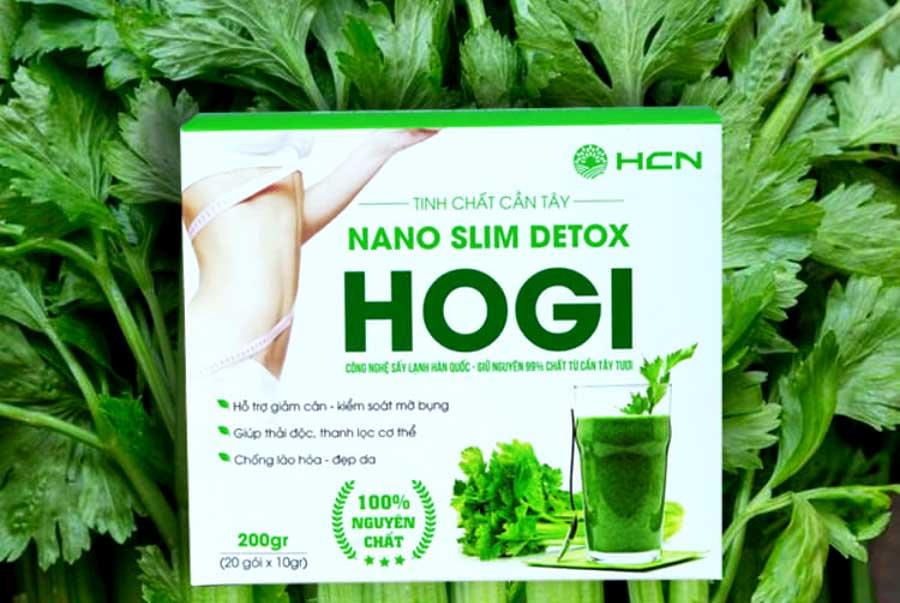 Tinh chất cần tây Nano Slim Detox HOGI, hoàn toàn từ thiên nhiên