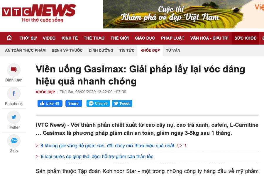 Báo VTCNews - Viên uống Gasimax: Giải pháp lấy lại vóc dáng hiệu quả nhanh chóng
