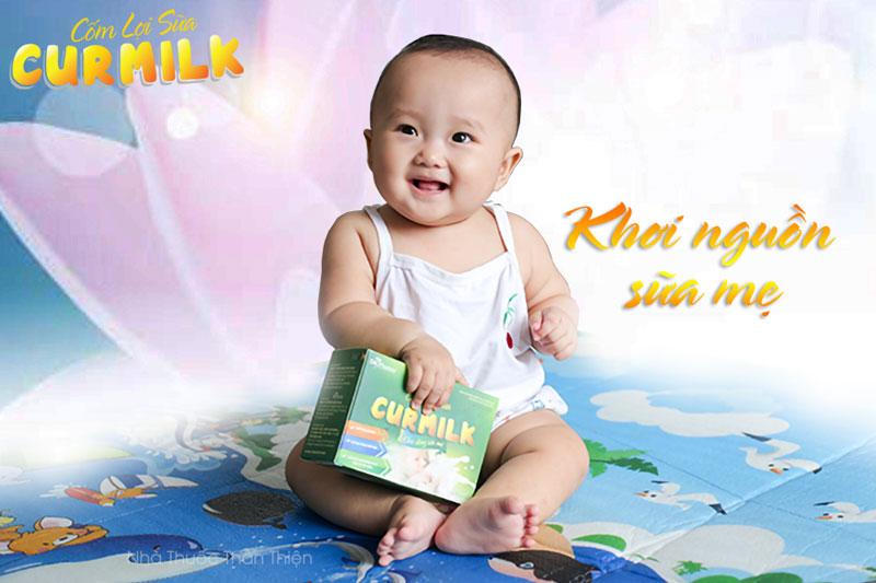 Cốm lợi sữa Curmilk, khơi dòng sữa mẹ, hỗ trợ lợi sữa, tăng tiết sữa