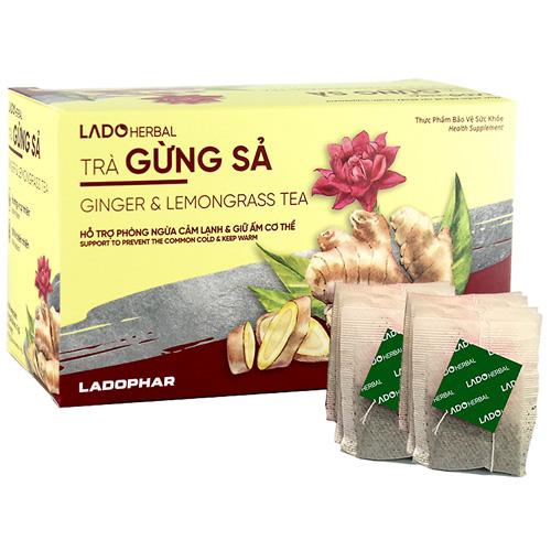 Lado Herbal trà gừng sả