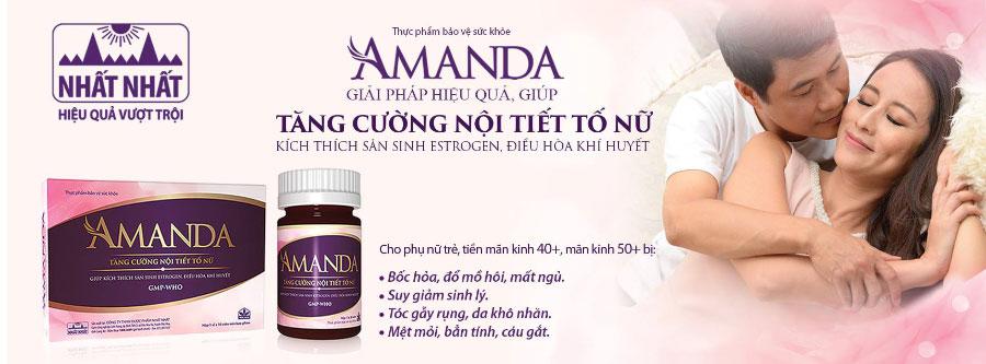 Amanda, tăng cường nội tiết tố nữ, mang lại sự hoạt bát, trẻ trung cho nữ giới