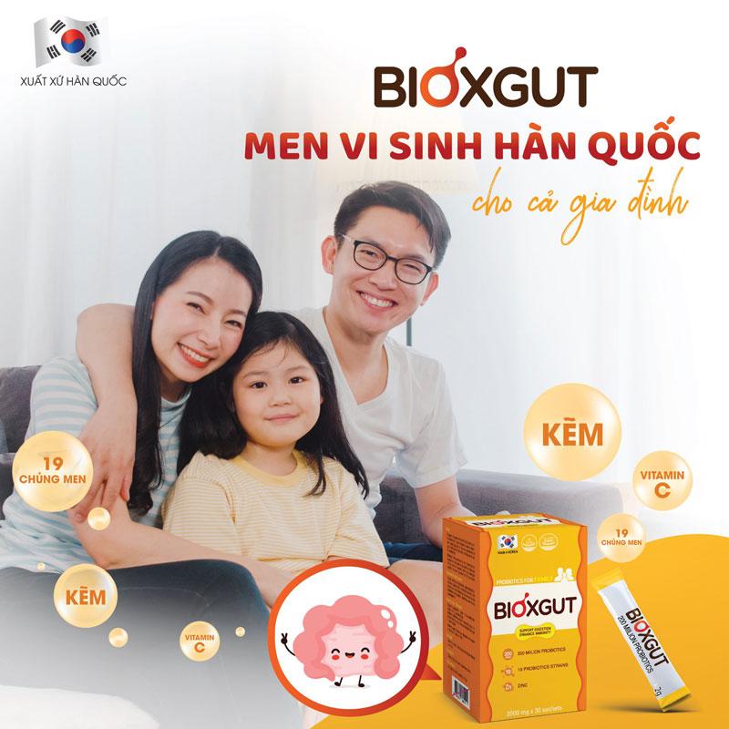 Men vi sinh Bioxgut, hỗ trợ bổ sung vi khuẩn có lợi cho đường ruột
