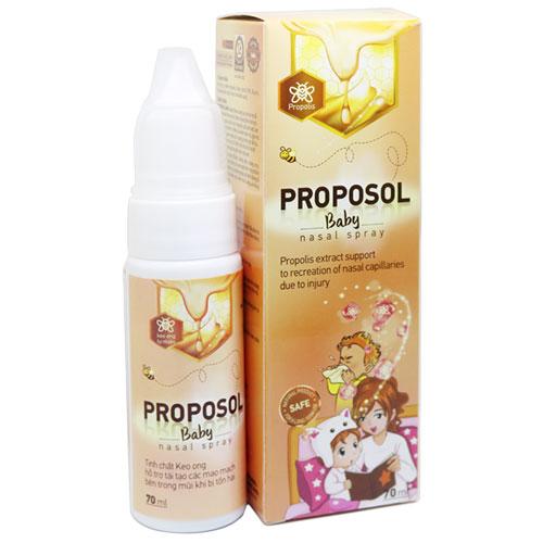 Dung dịch xịt rửa mũi keo ong Proposol Baby