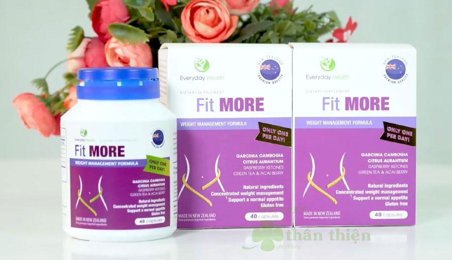 Viên uống Fit More, hỗ trợ ức chế cảm giác thèm ăn
