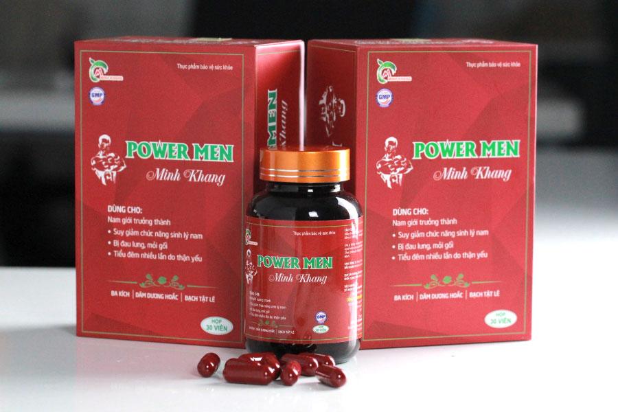 Power Men Minh Khang, hỗ trợ bổ thận, tráng dương, tăng cường sinh lý nam