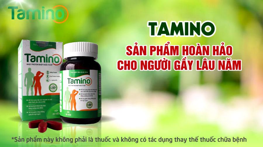 Viên uống Tamino, Whey protein nhập khẩu từ Mỹ, hỗ trợ giúp ăn ngủ ngon