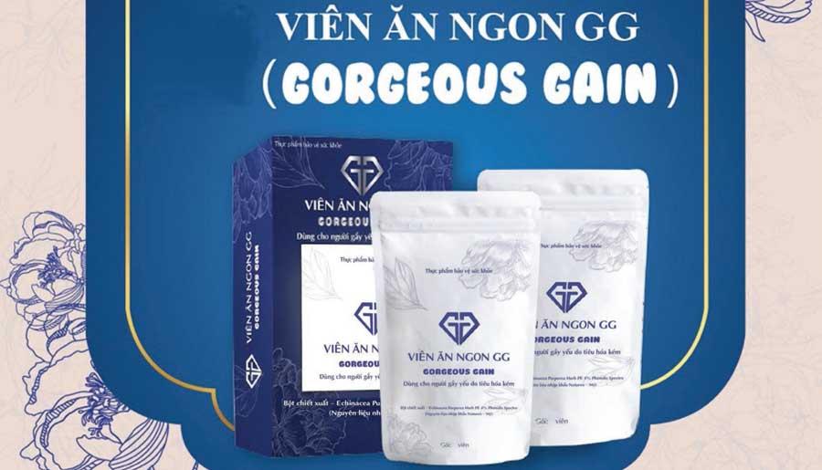 Viên ăn ngon GG Gorgeous Gain, dùng cho người gầy yếu, do tiêu hoá kém