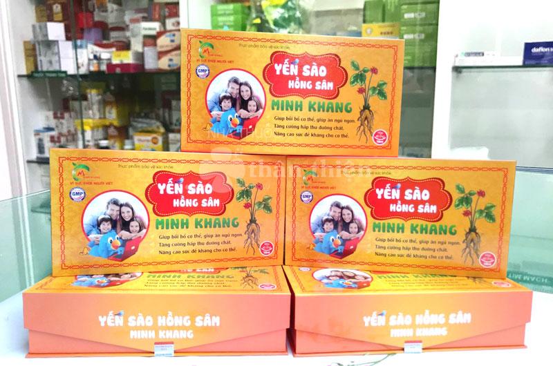 Yến sào hồng sâm Minh Khang, hỗ trợ bồi bổ cơ thể, giúp ăn ngon, ngủ ngon