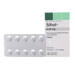 Thuốc Sifrol 0,25mg