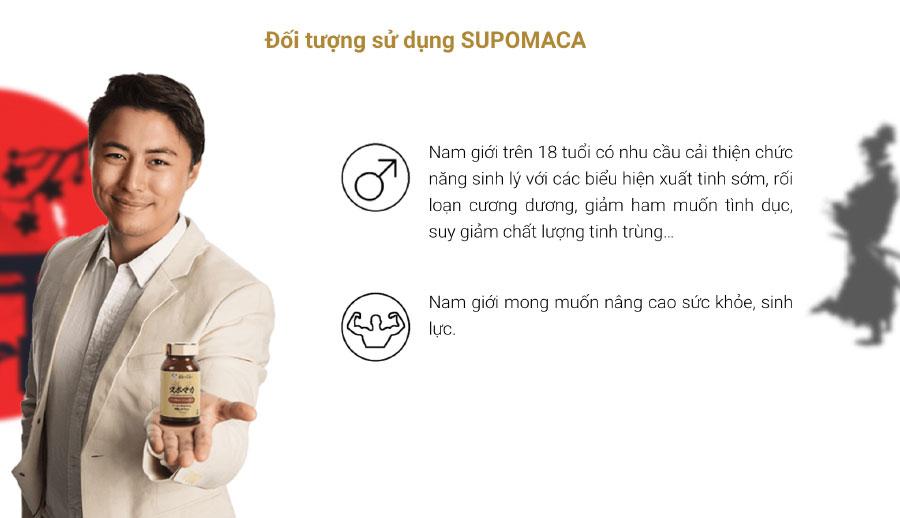 Viên uống Supomaca, hỗ trợ tăng cường sinh lý ở nam giới