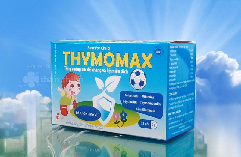 Thymomax, hỗ trợ tăng cường miễn dịch, sức đề kháng ở trẻ