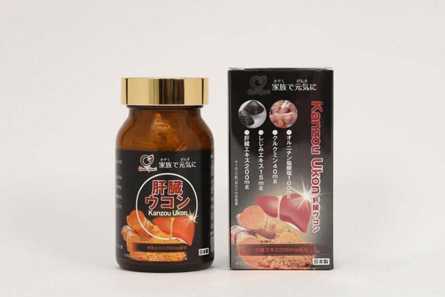 Viên uống Kanzo Ukon, hỗ trợ giảm mệt mỏi và hỗ trợ bảo vệ gan