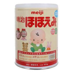 Sữa Meiji Hohoemi 0-1 tuổi, hàng nội địa Nhật Bản (hộp thiếc 800g)