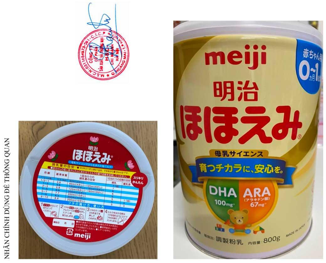 Sữa Meiji Hohoemi Milk 0-1 tuổi (số 0), hàng nội địa Nhật (hộp thiếc 800g)
