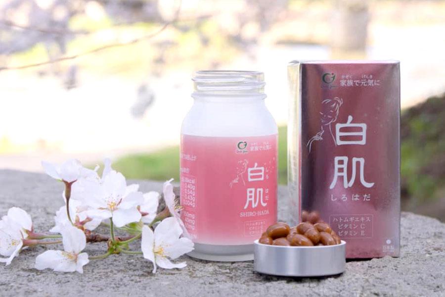 Viên uống Shirohada, hỗ trợ cải thiện lão hóa da và giúp chống oxy hóa