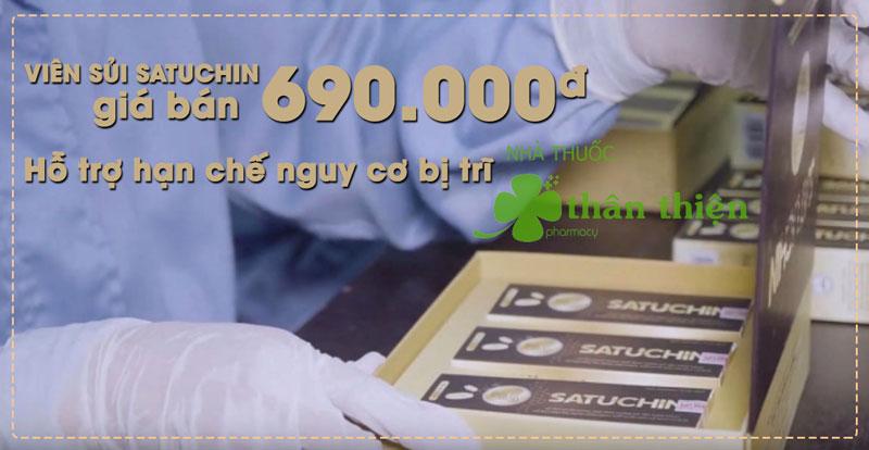 Viên sủi Satuchin đang bán trên thị trường với giá 690 nghìn đồng