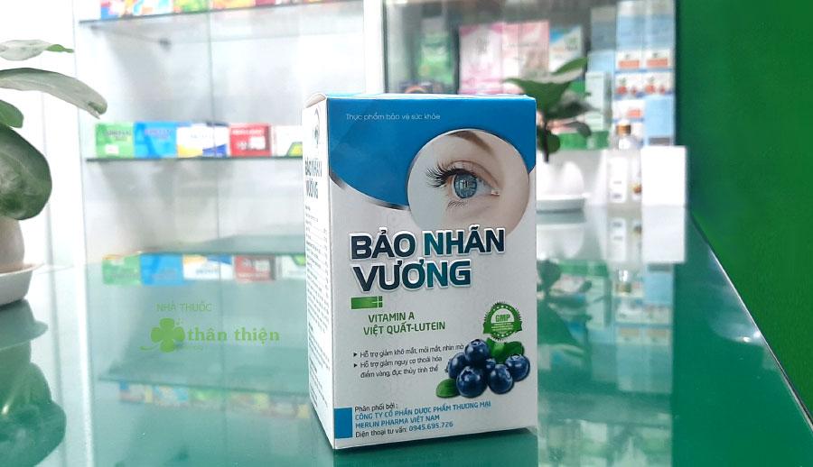 Bảo Nhãn Vương, Hỗ trợ giảm khô mắt và nguy cơ thoái hóa điểm vàng