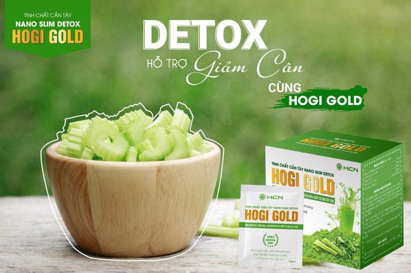 Tinh chất Cần tây Nano Slim Detox Hogi Gold, hỗ trợ hạn chế lão hóa da