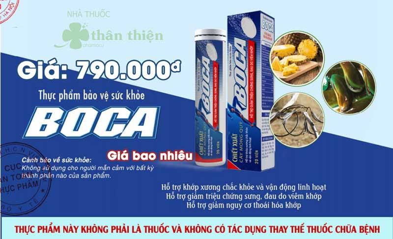 Viên sủi Boca đang bán với giá 790 nghìn đồng/ 1 tuýp 20 viên sủi