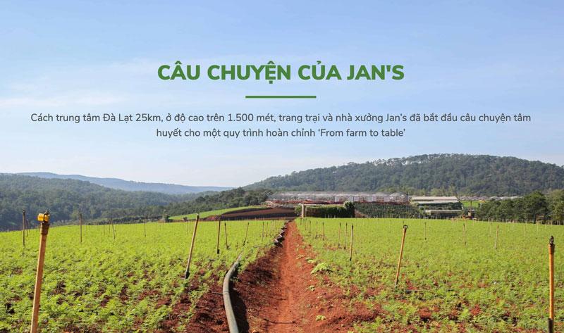Hình chụp trang trại Bột cần tây sấy lạnh Jan's Powder tại Lâm Đồng