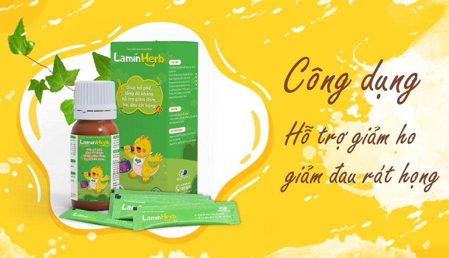 Lamin Herb, hỗ trợ giảm đau rát họng và hỗ trợ giảm đờm do viêm họng