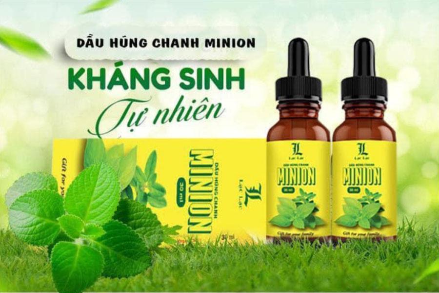 Dầu Húng Chanh Minion, hỗ trợ người có dấu hiệu cảm cúm, ho hen, sốt cao