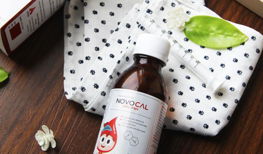 Novocal Baby Drops, hỗ trợ bổ sung calci, vitamin D, hỗ trợ phát triển chiều cao