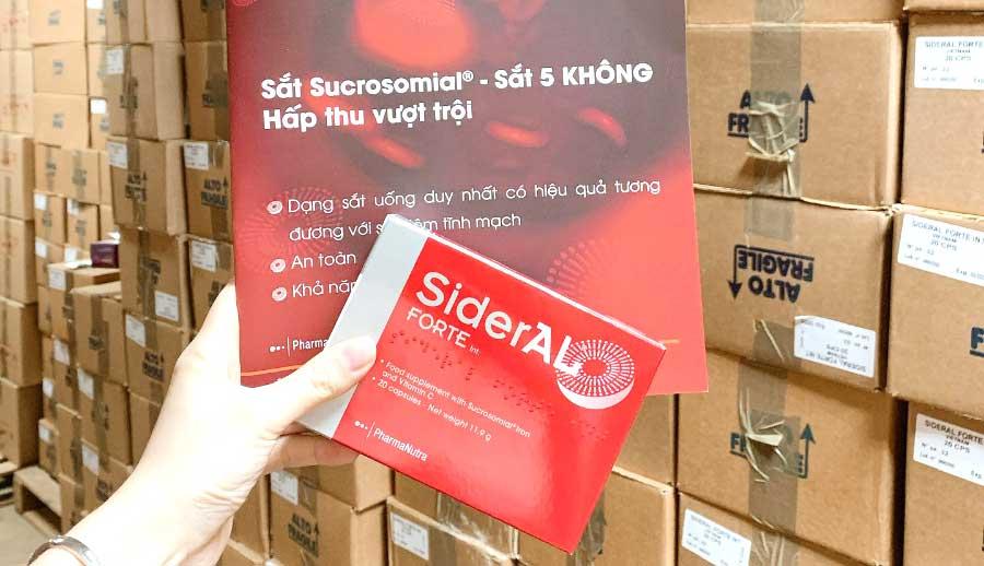 SiderAL Forte, giúp bổ sung sắt, hỗ trợ điều trị thiếu máu, thiếu sắt