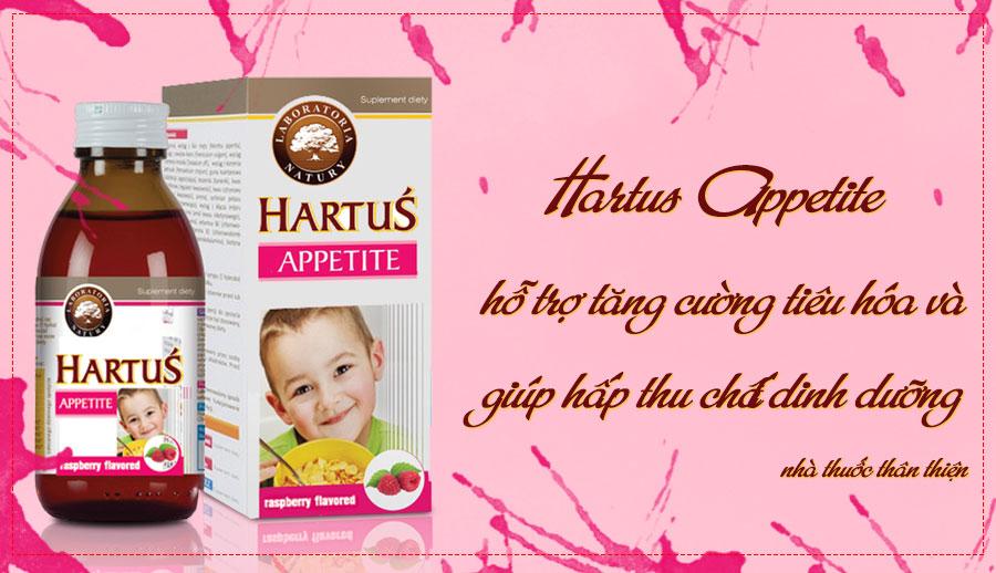 Siro Hartus Appetite, hỗ trợ tăng cường tiêu hóa và giúp hấp thu chất dinh dưỡng