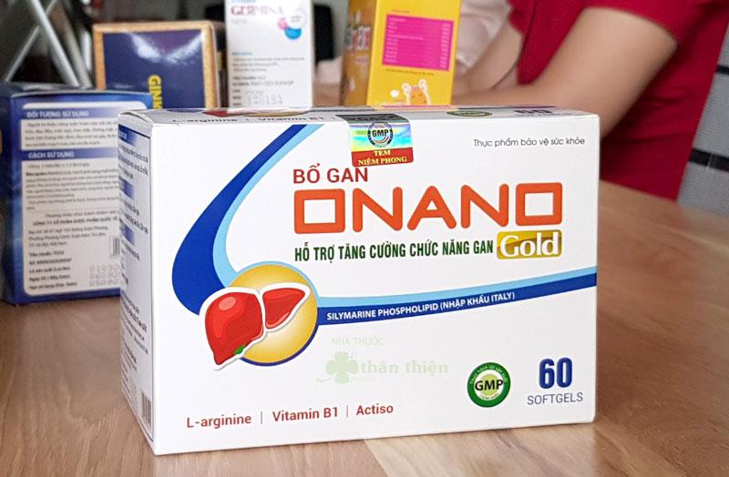 Bổ gan Onano Gold, hỗ trợ bảo vệ tế bào gan và phục hồi chức năng gan