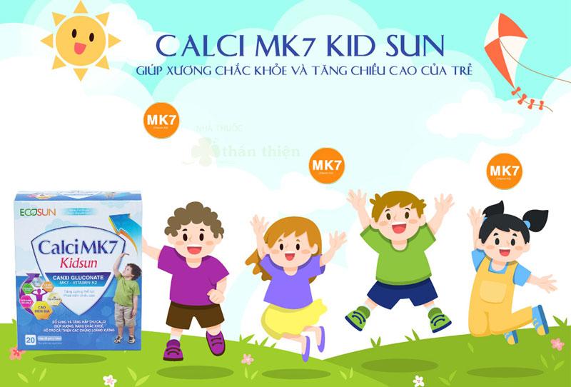 Calci MK7 Kidsun, giúp hỗ trợ bổ sung và tăng hấp thu calci giúp xương