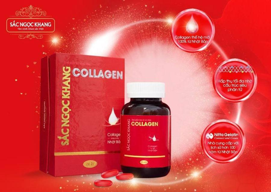 Collagen Sắc Ngọc Khang, bổ sung collagen giúp hạn chế lão hóa da