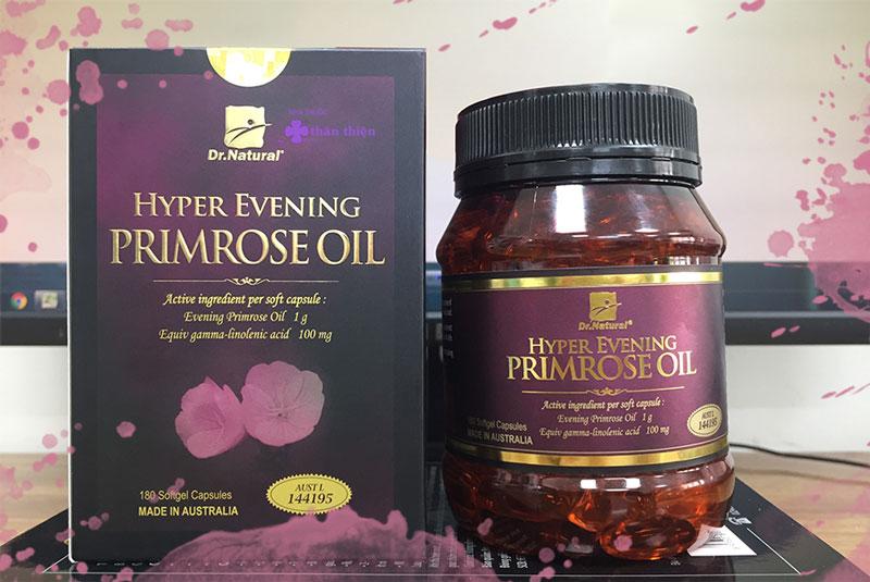 Dr Natural Hyper Evening Primrose Oil, hỗ trợ cân bằng nội tiết tố, giảm sạm nám da
