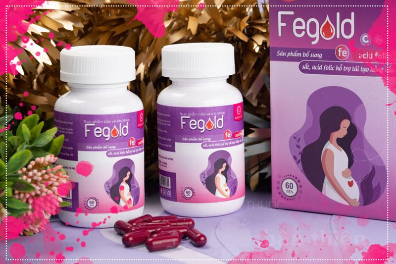 Viên uống Fegold, giúp bổ sung sắt, acid folic cho cơ thể, hỗ trợ tái tạo hồng cầu