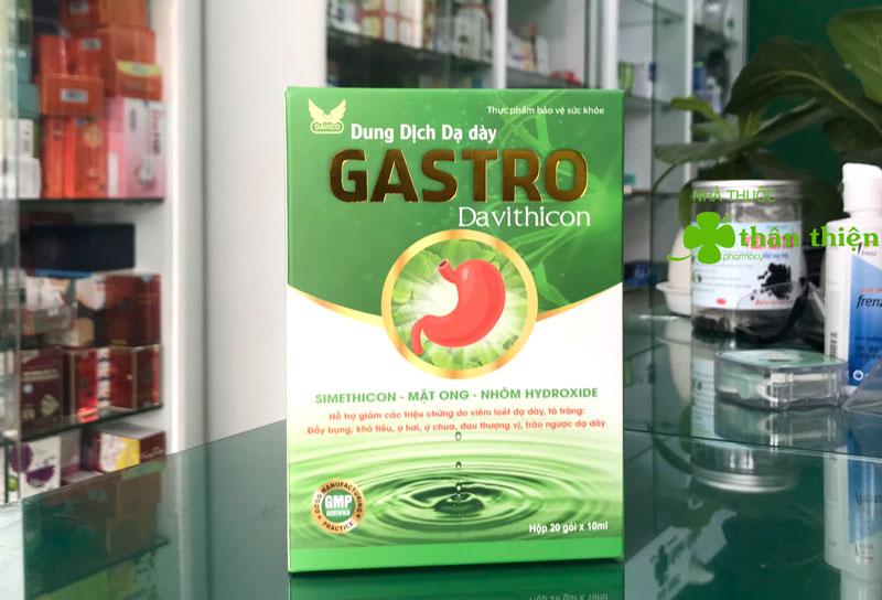 Dung dịch dạ dày Gastro Davithicon, hỗ trợ làm giảm acid dịch vị và giúp bảo vệ niêm mạc dạ dày