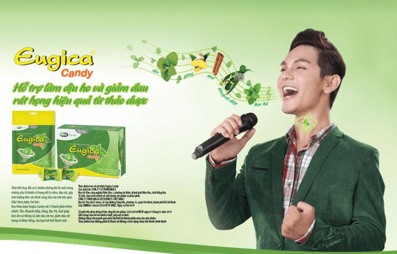 Kẹo ngậm ho Eugica Candy, hỗ trợ điều trị trong viêm nhiễm đường hô hấp trên hoặc cảm lạnh