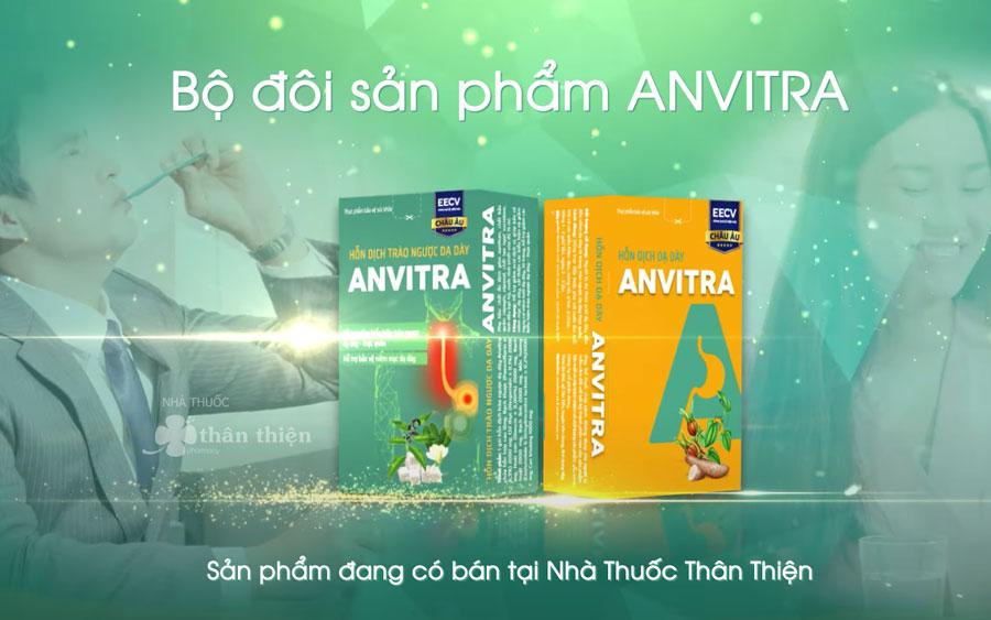 Quý vị có thể mua bộ đôi Hỗn dịch dạ dày Anvitra tại hệ thống Nhà Thuốc Thân Thiện