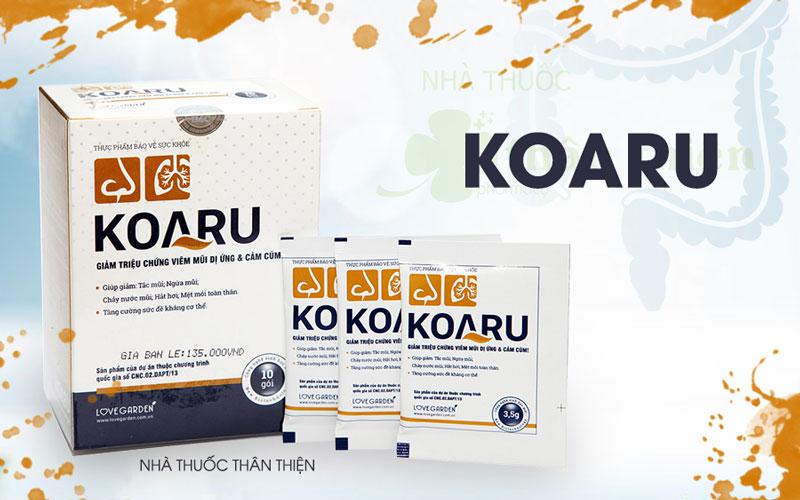 Tpbvsk Koaru, hỗ trợ làm giảm các triệu chứng viêm đường hô hấp