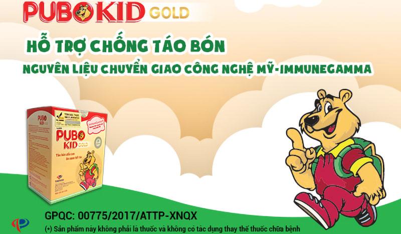 Pubo kid Gold, hỗ trợ tăng cường tiêu hóa, nâng cao sức đề kháng