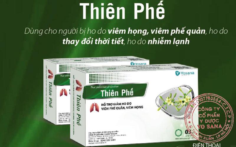Thiên Phế, hỗ trợ làm giảm ho do viêm họng hoặc viêm phế quản