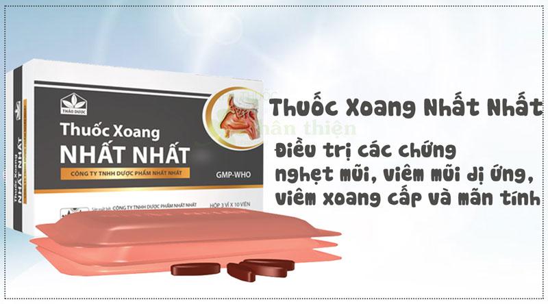 Thuốc Xoang Nhất Nhất, Chỉ định điều trị các chứng viêm mũi dị ứng, viêm xoang