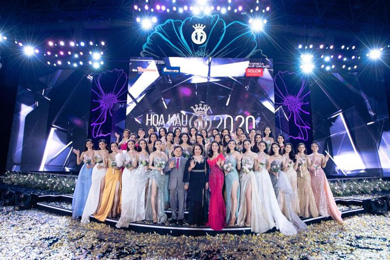 Top 35 thí sinh bước vào chung kết toàn quốc Hoa hậu Việt Nam 2020.