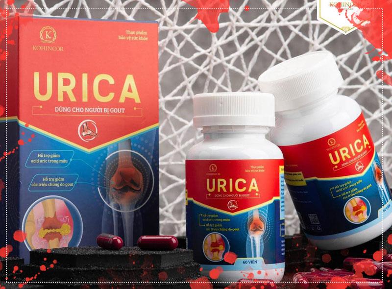 Viên uống Urica, hỗ trợ giảm acid uric trong máu và hỗ trợ giảm các triệu chứng do gout