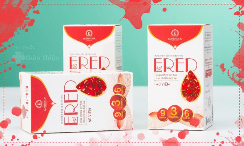 Viên uống Ered, Hỗ trợ giúp giảm tình trạng thiếu Vitamin E
