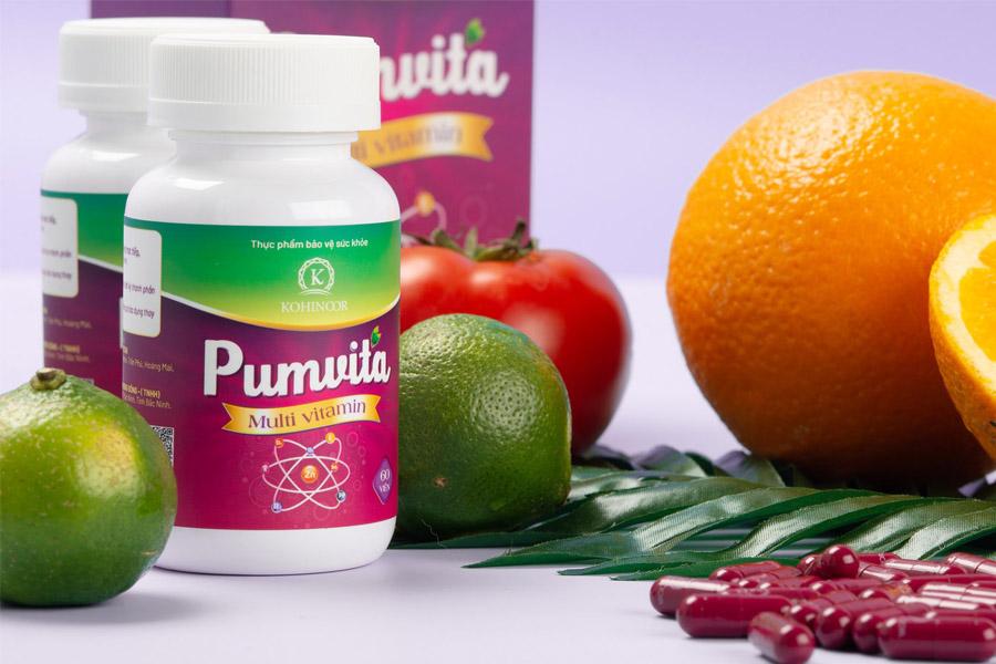 Viên uống Pumvita giúp tăng cường sức đề kháng