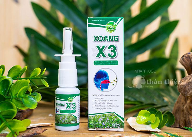 Xịt Xoang X3, hỗ trợ điều trị viêm xoang, viêm đa xoang, viêm xoang mãn tính