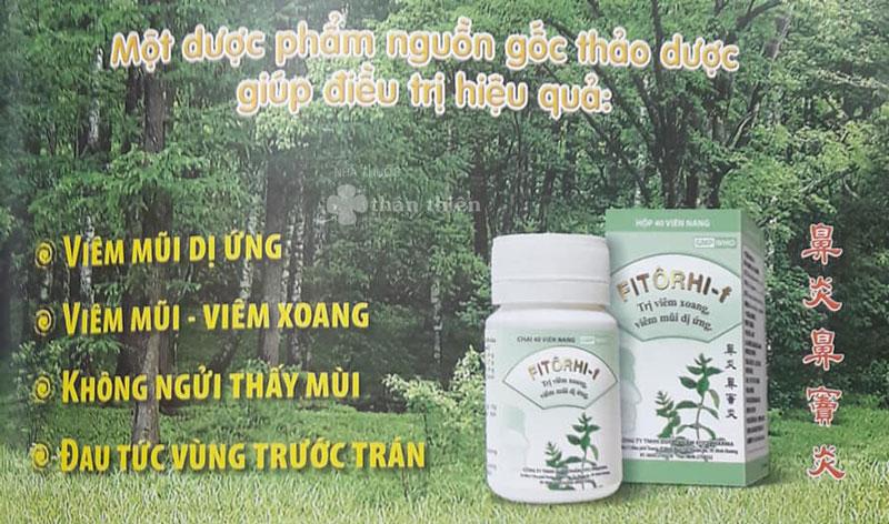Thuốc Fitôrhi- F, trị viêm xoang, viêm mũi dị ứng, mũi chảy nước