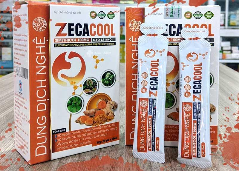 Dung dịch nghệ Zecacool, hỗ trợ giảm acid dịch vị, bảo vệ niêm mạc dạ dày